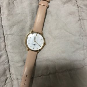 Kate Spade tan leather wrist watch